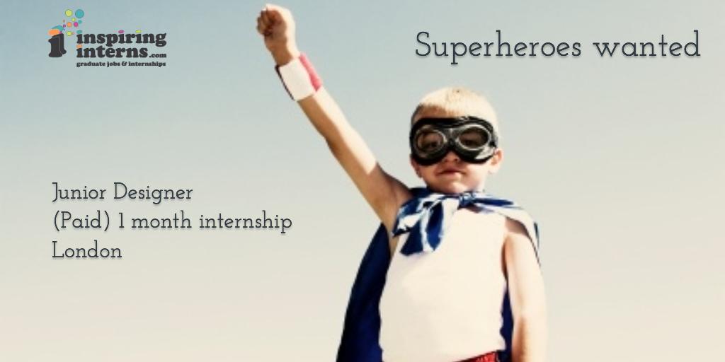 Junior-Designer-paid-internship-one-month-graduate-job-inspiring-interns-inspiration-motivation-superheroes