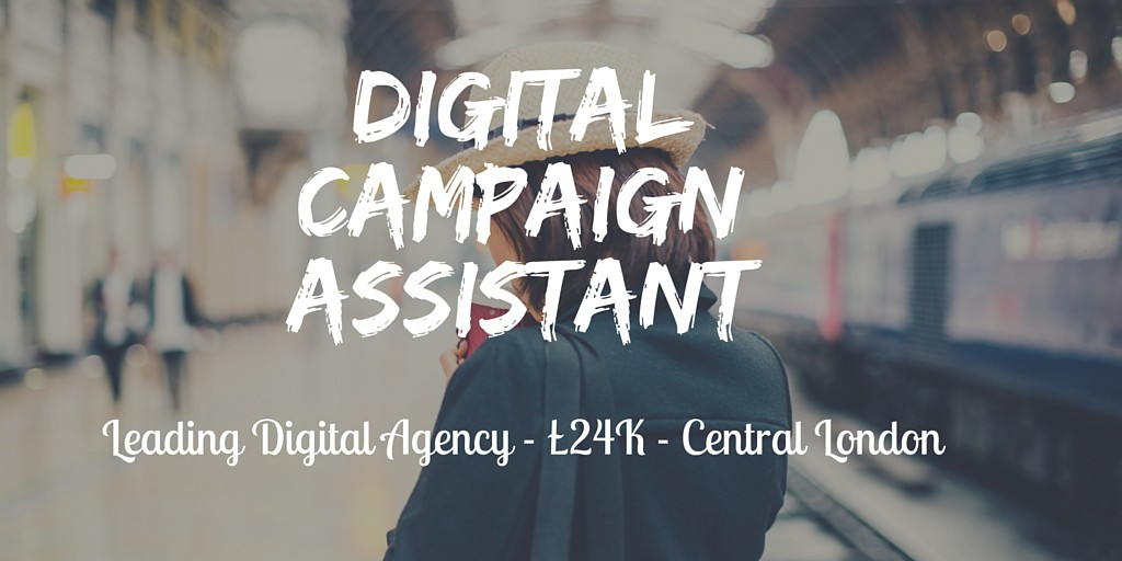 Digital Campaign Assistant Job Ad