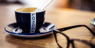 A london mug of coffee