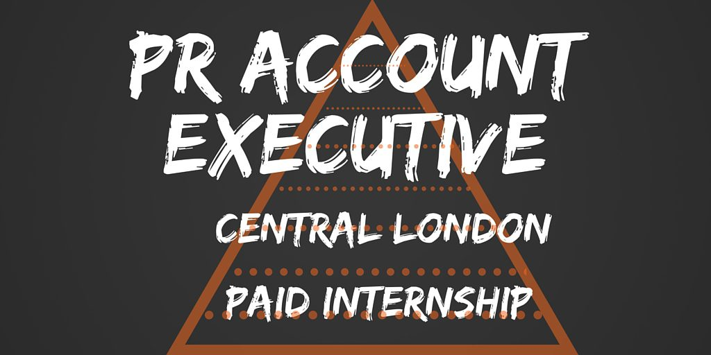 PR Account Executive advert