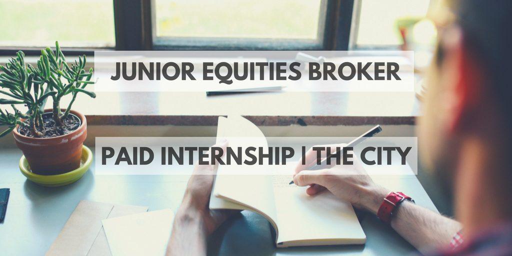 Junior Equities Broker advert
