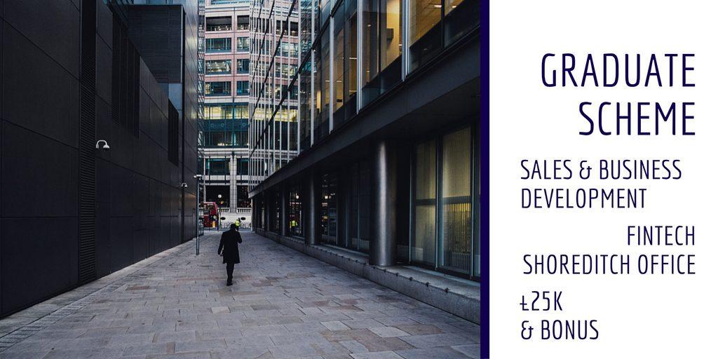 Advert for sales graduate scheme