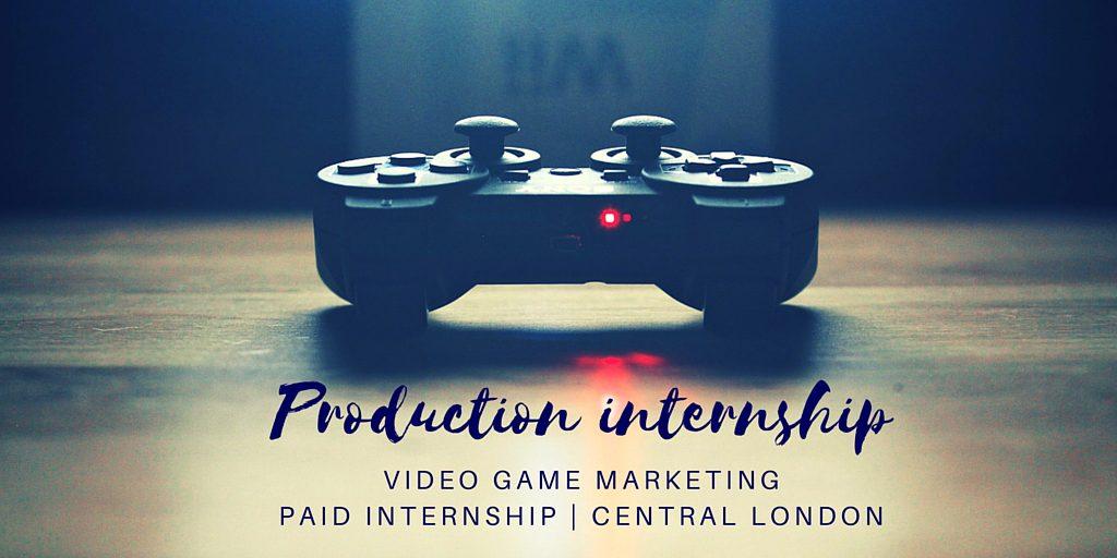 Production Internship advert