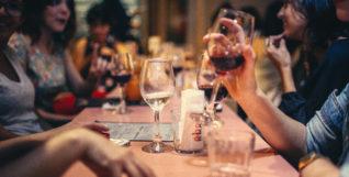 socialising drinking in bar