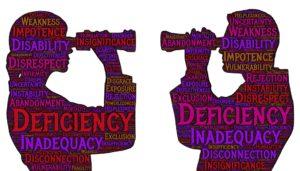 insecurities and deficiencies
