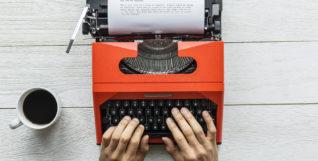 freelance writer typewriter