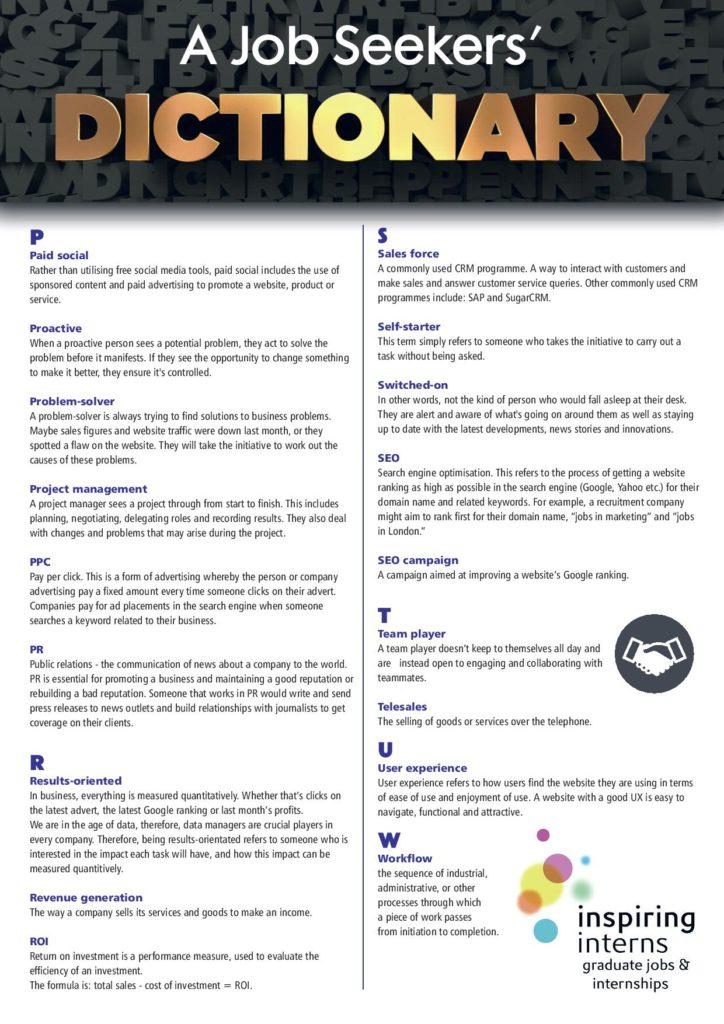 Dictionary pdf work social