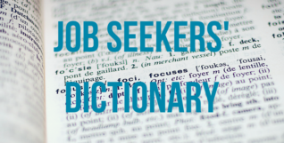 a job seeker's dictionary