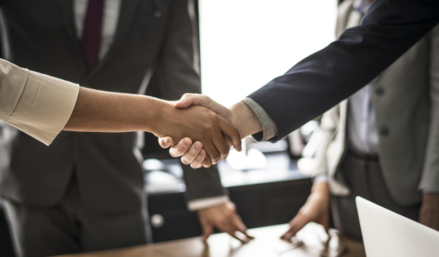 job interview hand shake